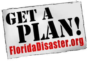 Graphic containig a link to the Get A Plan Florida Disaster.org information page.