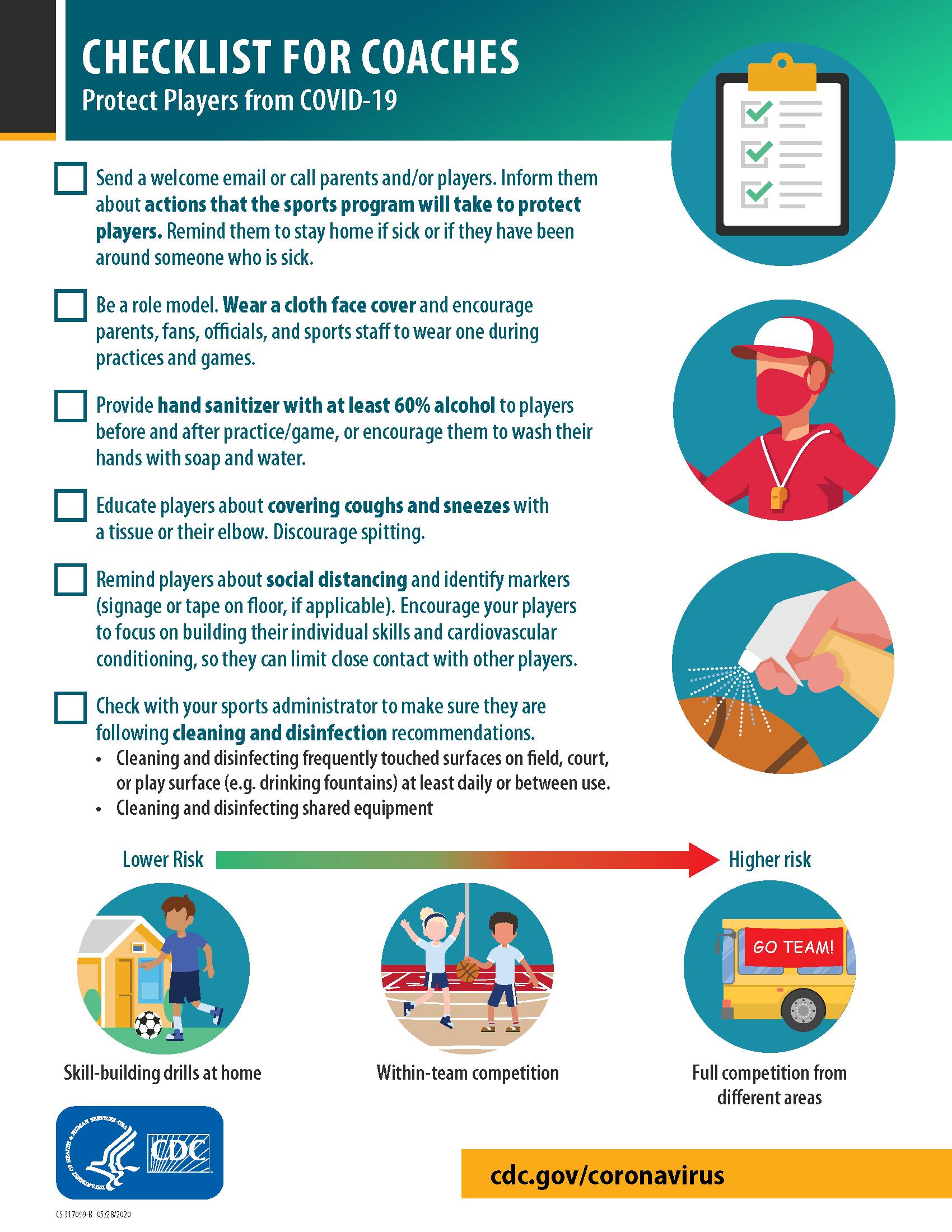 COVID-19 Checklist for Coaches